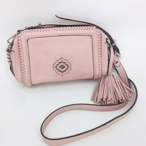 orYANY Leather Crossbody Shoulder Bag Dusty Pink